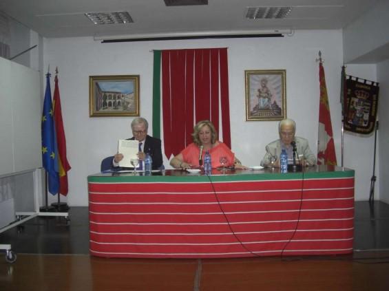 D. Benigno Pérez Zurro, Mari Luz Uña y Santiago Cobos