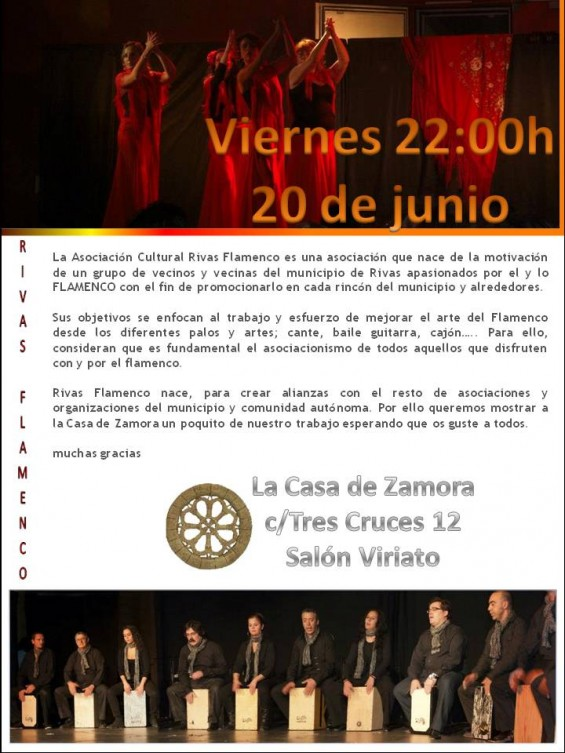 cartel rivas flamenco